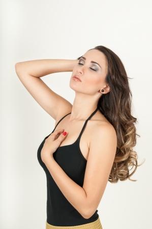 Freshness woman on white background