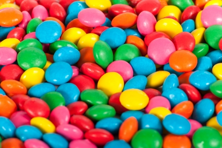 Close up of Sugar Coated Chocolate Buttons  Smarties