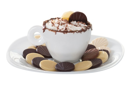 Sweet Cappucino with hazelnut cream, chantilly and chocolate