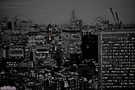 dark city: london Stock Photo