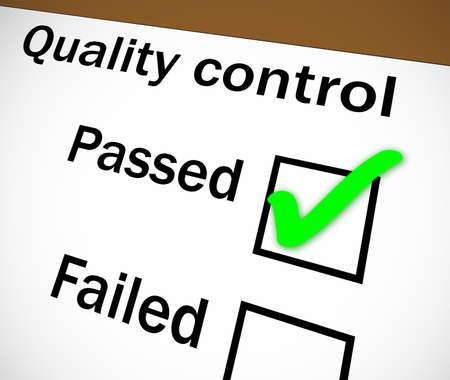 tickbox: Quality control tickbox with PASSED ticked Stock Photo
