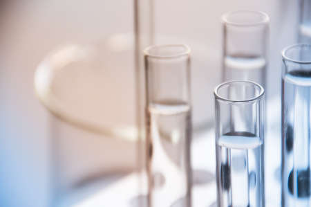 Test tube in science laboratory photo