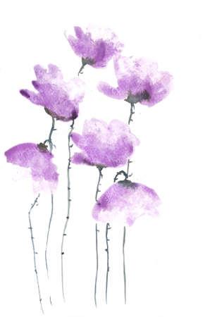 impression: Purple poppy flowers