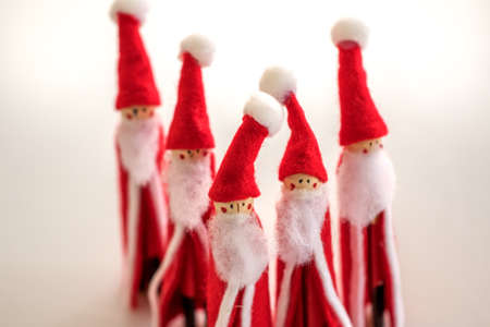 Christmas Handmade Santas Reklamní fotografie