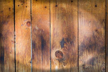 Texture du bois, fond en bois fait de planches brunes. Banque d'images