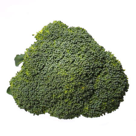 Broccoli  Isolated on white  Top View