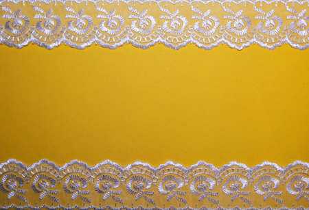 Lace on a yellow background