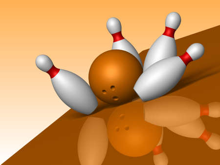3D. Bowling photo