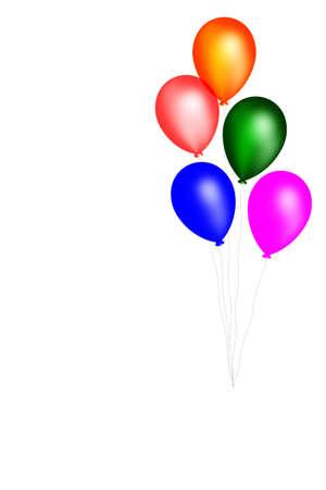 Balloons. 3D Stock Photo