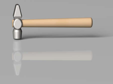 3d the image of a hammer - the working tool of proletariat