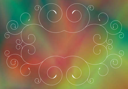 The abstract background consisting from objects: lines, spiral figures