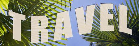 Travel to palm trees Stock Photo