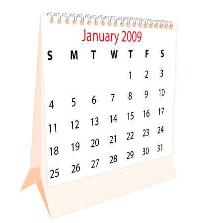 Calendar of a desktop 2009 for January photo