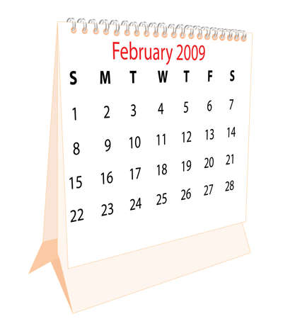 Calendar of a desktop 2009 for February photo