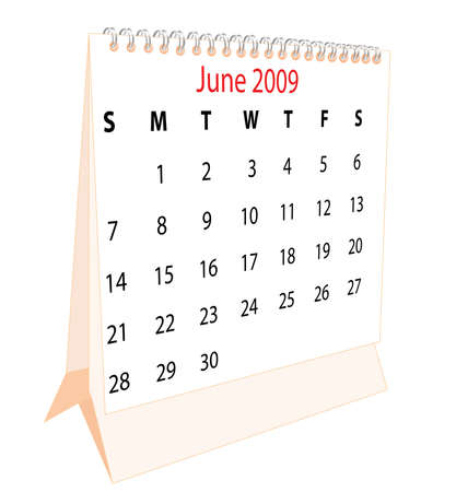 Calendar of a desktop 2009 for June Stock Photo