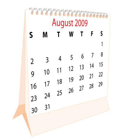 Calendar of a desktop 2009 for August photo