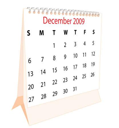 Calendar of a desktop 2009 for December