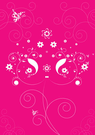 Decorative floral background, vector illustration Stock Vector - 3402814