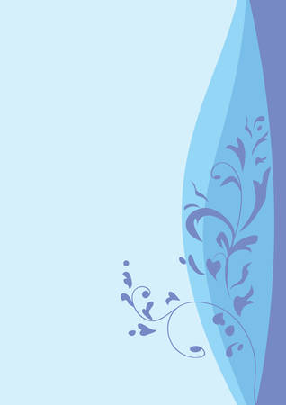 Decorative floral background, vector illustration