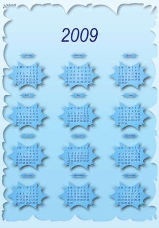 Сalendar of 2009 year.