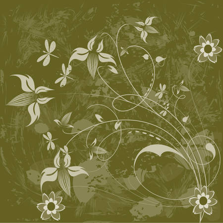 Floral background. Please see some similar pictures from my portfolio. Vector