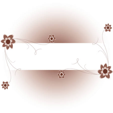 Floral background with a frame for a text. Please see some similar pictures from my portfolio. Vector