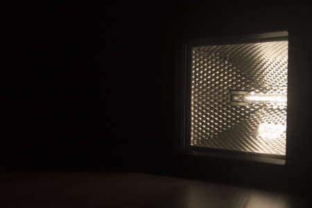 Light bulb on black background Stock Photo
