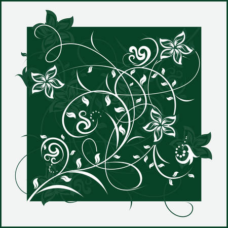 Decorative flowers on color background, vector illustration. Please see some similar pictures from my portfolio. Vector