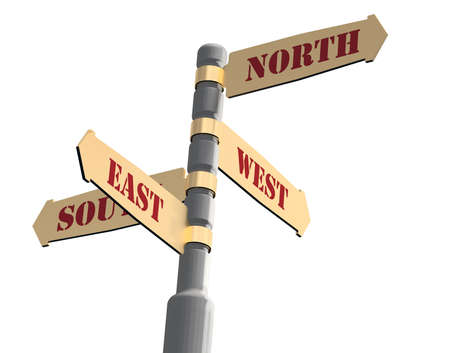 Navigation arrows with index on north, west, south, east sides.