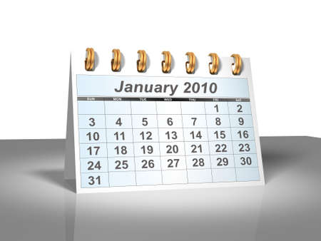 Desktop Calendar. January, 2010. A full series for 2010 in my portfolio.