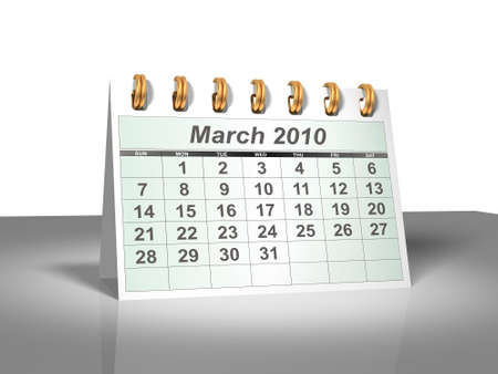 Desktop Calendar. March, 2010. A full series for 2010 in my portfolio.