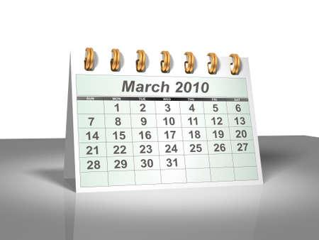 thursday: Desktop Calendar. March, 2010. A full series for 2010 in my portfolio.