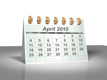 Desktop Calendar. April, 2010. A full series for 2010 in my portfolio.