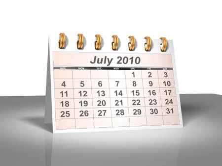 Desktop Calendar. July, 2010. A full series for 2010 in my portfolio.