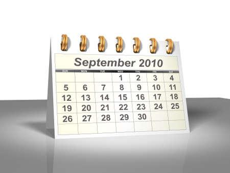Desktop Calendar. September, 2010. A full series for 2010 in my portfolio.