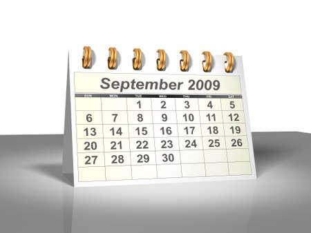 calendario escritorio: Desktop Calendar. Septiembre, 2009.