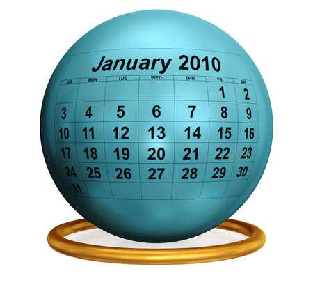 thursday: January 2010 Original Calendar.