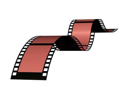 Blank film strip Stock Photo