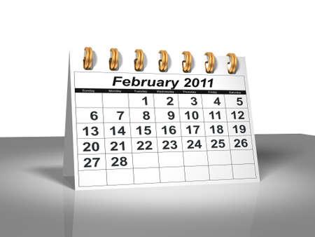 calendario escritorio: Calendario de escritorio. Febrero de 2011