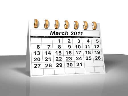 calendario escritorio: Calendario de escritorio. Marzo de 2011