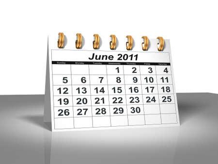 Desktop Calendar. June, 2011