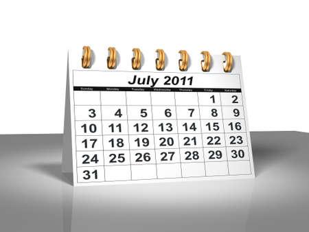 Desktop Calendar. July, 2011