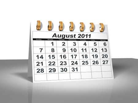 Desktop Calendar.  August, 2011