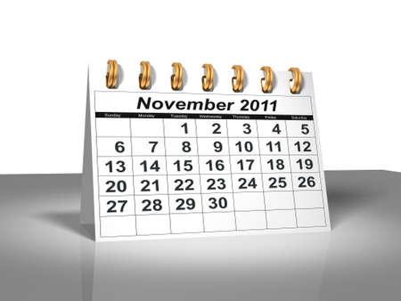 Desktop Calendar.  November, 2011 photo
