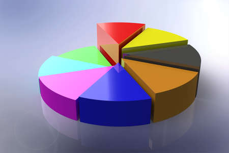 Pie chart 3D Stock Photo