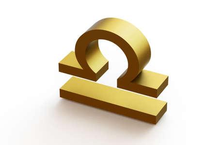Zodiac sign - Libra. 3D illustration on isolated white background.