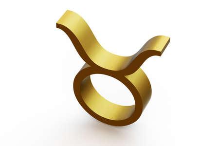 Zodiac sign - Taurus. 3D illustration on isolated white background. Stock Photo