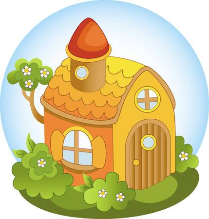 non urban scene: fairytale house