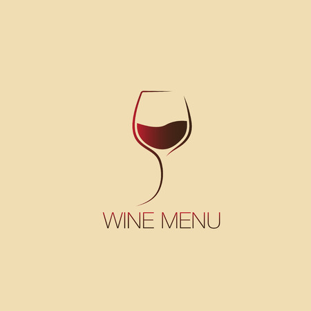Glass of wine. Icon, symbol, logo alcohol. For the menu, bar, restaurant, wine list. minimal. 向量圖像
