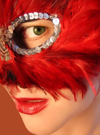 green eyed beauty at the masquerade